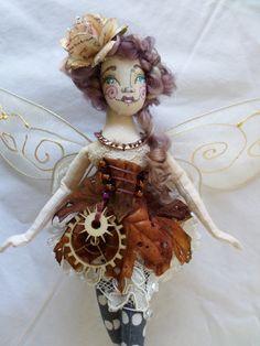 OOAK Fairy Art Doll  Octavia Elise Featherwood  by paulasdollhouse