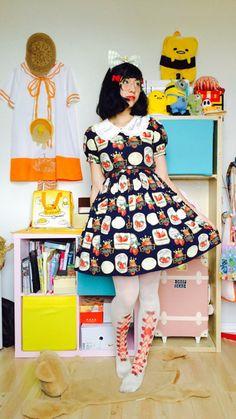 sinneddonuts Kawaii Dress, Kawaii Clothes, Flowery Dresses, Cute Dresses, Japanese Streets, Casual Cosplay, Lolita Dress, Lolita Fashion, Fashion Brands