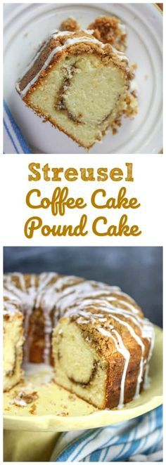 Streusel Coffee Cake Pound Cake - Enjoy this Southern old-fashioned tender, buttery coffee cake and pound cake with family and friends for special weekends and brunches! Feeds a crowd, looks elegant and tastes like heaven! Easy Desserts, Delicious Desserts, Dessert Recipes, Keto Desserts, Cupcakes, Cupcake Cakes, Bundt Cakes, Crumb Cakes, Cannoli