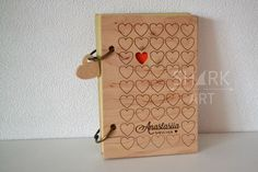 wooden notebook, деревянный блокнот, блокнот в деревянной обложке Diy Notebook, Notebook Covers, Journal Notebook, Laser Cut Mdf, Laser Cutting, Personalized Anniversary Gifts, Personalized Gifts, Recipe Card Holders, Laser Cutter Projects