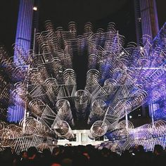 Chinese artist and activist Ai Weiwei presented a new version of his incredibleForever Bicyclesinstallation.