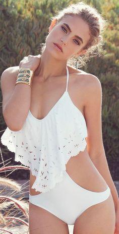 #BIkini #weiss #Sommer# Bikinimode #Strandmode