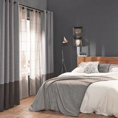 love the inner linen curtain for the bedroom! Bedroom Decor For Women, Trendy Bedroom, Home Decor Bedroom, Living Room Decor, Master Bedroom, Bedroom Ideas, Casa Hotel, Home Curtains, Unique Curtains