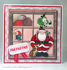 The Snowman and the Snowdog - love this handmade Christmas card! #festive