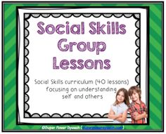 Social Skills Group Lessons (curriculum for a year!) Social Skills Group Lessons (curriculum for a year!),Pragmatic Social Skills Group Lessons (curriculum for a year! Social Skills Autism, Social Skills Lessons, Social Skills Activities, Teaching Social Skills, Counseling Activities, Speech Activities, Social Emotional Learning, Therapy Activities, Life Skills