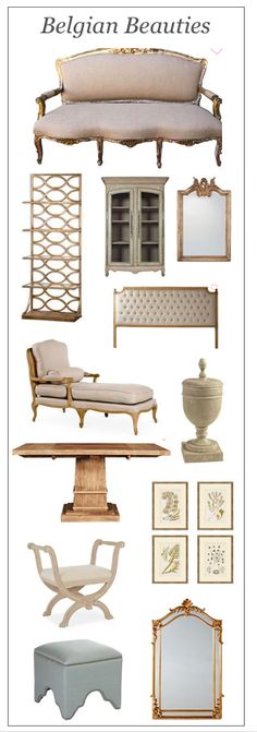 Beautiful collection of Belgian furniture