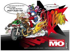 Frohe Weihnachten Motorrad.Die 13 Besten Bilder Von Christmas Motorcycle Illustrations