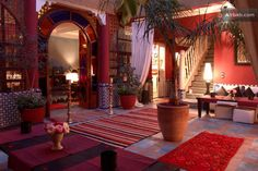 The courtyard of the Riad Eden Bed and Breakfast, Marrakesh, Morocco