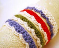 scallop bracelet crochet pattern #crochet