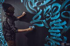 """Calligraphy On Girls"" (2015) by Pokras Lampas. http://illusion.scene360.com/art/84247/pokras-lampas/"
