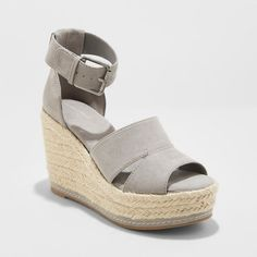 e39a7cd637e Women s Caroline Microsuede Ankle Strap Espadrille Wedge - Universal Thread™