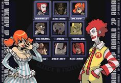 Wendy vs. Ronald. Fight!