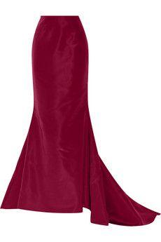 Oscar de la Renta Silk-faille maxi skirt | NET-A-PORTER