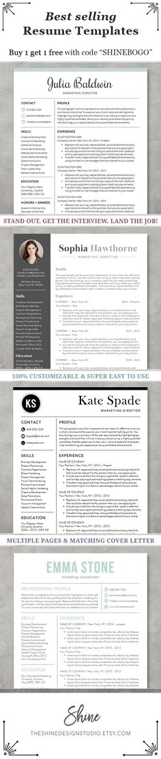 instant download resume templates cv template elegant resume designs for word