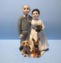 Wedding Cake topper for ridwayash09 by lynnslittlecreations, $85.00