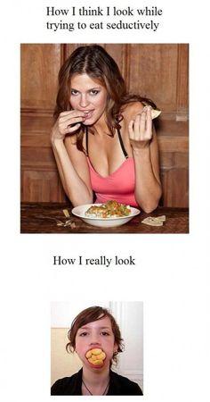 #LOL #Food #Humor #HowIReallyLook #Funny #Fun