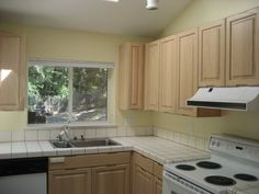 Bright, all convenience kitchen w/ VIEW & large skylight