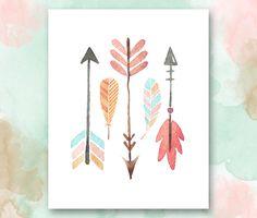 Arrows and Feathers Printable, Boho Chic Nursery Wall Art, Playroom Printable… Tribal Nursery, Chic Nursery, Nursery Wall Art, Girl Nursery, Girl Room, Nursery Decor, Bohemian Nursery, Boho Hippie, Hippie Style