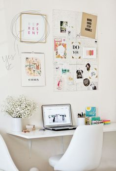 Recipe for a Stylish Workspace, Desk Inspiration Board | Vain and Simple