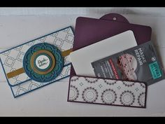 Badesalz Verpackung mit Produkten von Stampin' Up - YouTube Stampin Up Weihnachten, Happy Mail, Card Tags, Stamping Up, Creative Cards, Scrapbook Cards, Scrapbooking, Little Gifts, Gift Bags