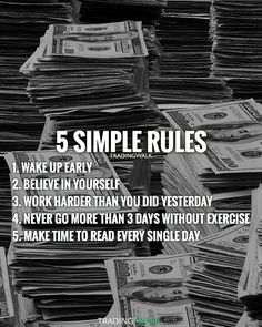 5 simple rules and tips you can use to make money and become a millionaire. Perfect for traders and entrepreneurs.