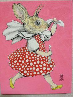by Yuko Higuchi Illustrations, Illustration Art, Doodle Doo, Tinta China, Rabbit Art, Fairytale Art, Cute Characters, Street Art, Asian Art