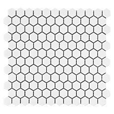 White Hexagon Porcelain Mosaic
