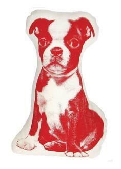 Boston Terrier Cushion - Areaware - $29.99 - domino.com