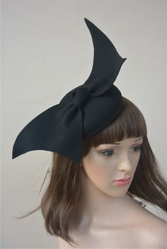 cacecc06c79 A194 Angel Wings Ladies Felt Wool Fascinator Cocktail Formal Racing Wedding  Hat