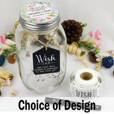 Wedding/Engagement Keepsake Wish Jar  Personalised Gift