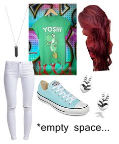 """""""Untitled #45"""" by catiepayne ❤ liked on Polyvore featuring ONLY, Converse, Karen Kane and Bling Jewelry"""