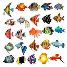 тропические рыбки эскизы: 7 тыс изображений найдено в Яндекс.Картинках
