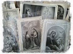 french lace prayer cards...