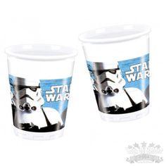 Copos Plastico Star Wars 8 unid