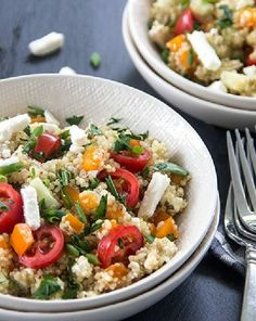 Low FODMAP and Gluten Free Spiced Quinoa and Feta http://www.ibssano.com/low_fodmap_recipe_spiced_quinoa.html