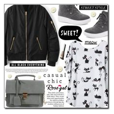 """""""Casual Chic (Rosegal 10)"""" by adnaaaa on Polyvore featuring ESPRIT, Garance Doré, Chanel, casual, chic, bomber, rosegal and jacker"""