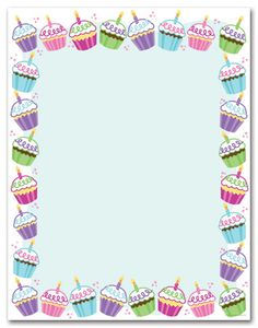 free cupcake stationary | ... personalize your card with any of these free back layouts for free