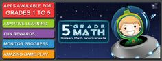 REDUCE homework time! INCREASE family time! 5th Grade Math Worksheets on 50% sale today. Let Splash Math make a difference in YOUR CHILDS LIFE!
