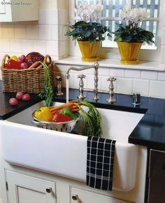 a little 'fancy' with that faucet  ...but nice, and shows the great potential of these sinks