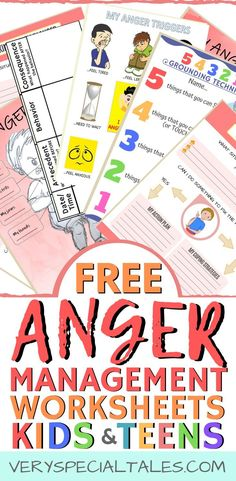 Anger Management Worksheets for Kids & Teens - Very Special Tales - Anger management worksheets are useful tools that can assist us when working on developing coping s - Anger Management Worksheets, Anger Management For Kids, Counseling Worksheets, Therapy Worksheets, Counseling Activities, Worksheets For Kids, School Worksheets, Social Activities, Group Activities