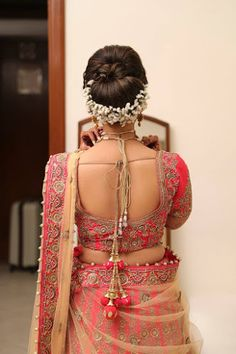 "Omega photography ""Portfolio"" album - Bridal Hairstyle for Long Hair Bridal Wedding Hairstyle, Mehendi Hairstyle. Bun Hairstyles, Wedding Hairstyles, Bridal Hairstyle, Indian Blouse, Indian Wear, Saree Blouse, Curly Hair Styles, Two Piece Skirt Set, Wedding Photography"