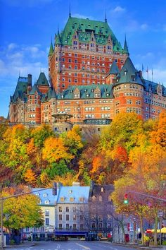 Unique Historic Hotels To Stay -Le Chateau In Autumn, Quebec City - Canada