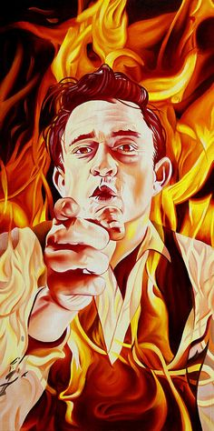 Image result for johnny cash paintings
