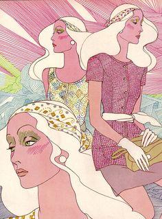 1970's fashion illustration