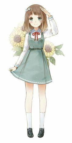 Cute Anime School Girl Extracted byCielly by CiellyPhantomhive Anime Chibi, Art Manga, Art Anime, Chica Anime Manga, Anime Art Girl, Anime Girls, Anime School Girl, Anime Girl Cute, Kawaii Anime Girl