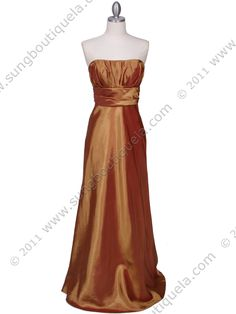 Gold Tafetta Evening Dress. Get yours today at www.SungBoutiqueLA.com