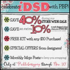 Save 40% storewide (plus save an extra 10% on $10+ purchases!): https://www.pickleberrypop.com/shop/home.php $2 Treats are back for a limited time too! https://www.pickleberrypop.com/shop/home.php?cat=194