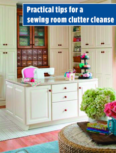 Kick clutter to the curb in minutes a day! This no-fail plan shows you how to confront quilting room mess—and keep it clean. Space Crafts, Craft Space, Craft Rooms, All People Quilt, Storage Organization, Organizing Ideas, Quilting Room, Sewing Crafts, Sewing Ideas