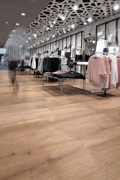 Flooring in retail environment. Maintenance is not hard and You get the WOW effect!