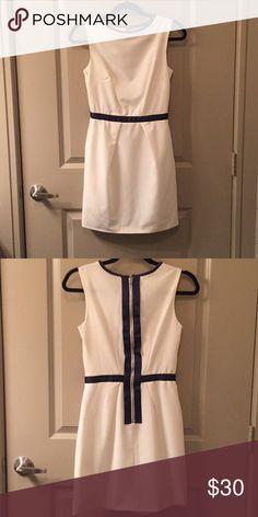 NWOT Cream and Navy ASOS Sheath Dress Adorable, never-worn sheath dress from ASOS!  UK size 6! ASOS Dresses